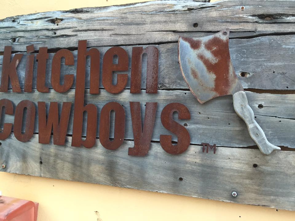 kitchen cowboys sign