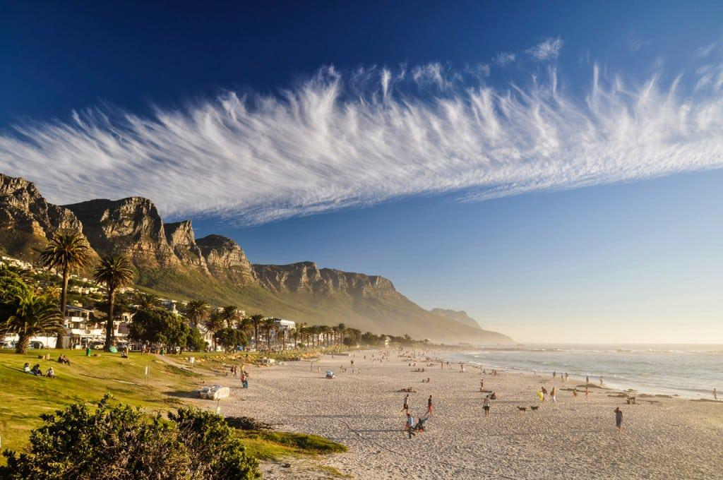 Camps Bay beach and grass
