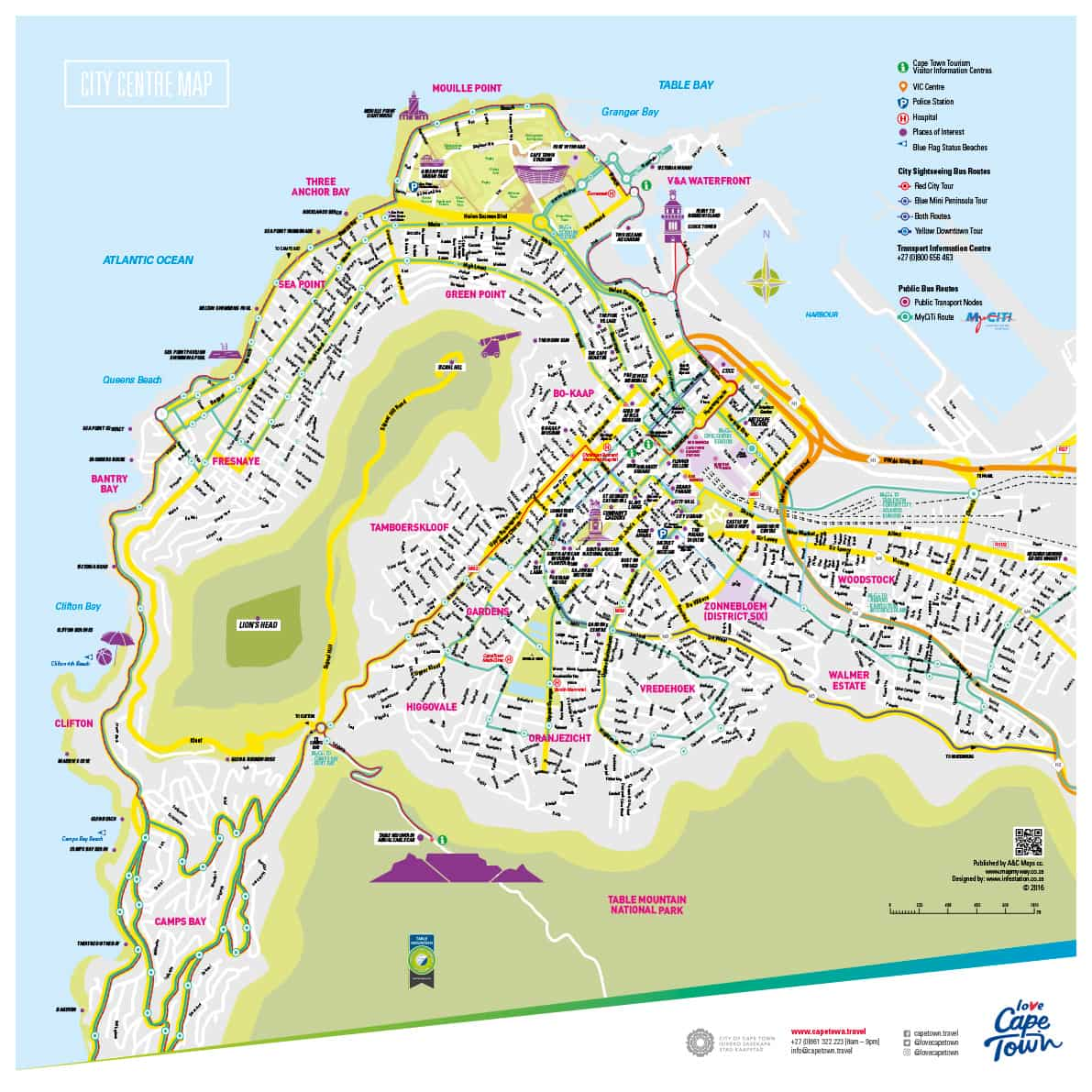 Map Studio Cape Town Tourism