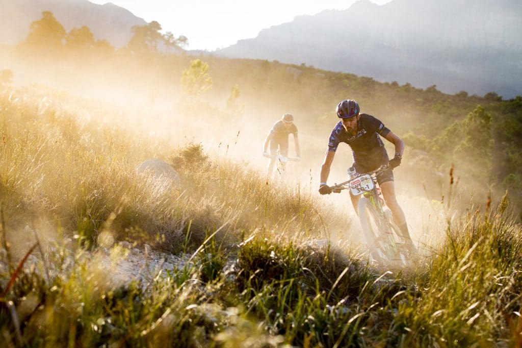 Absa Cape Epic Riders downhill