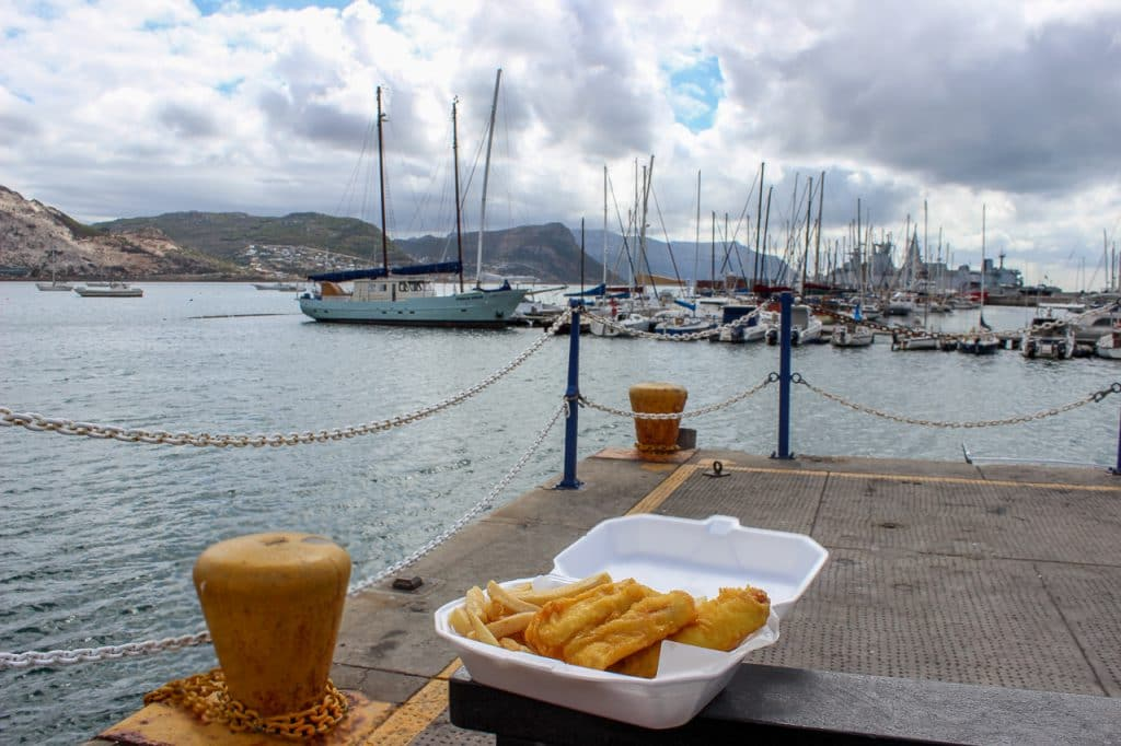 Fish and cips with a view from The Salty Sea Dog in Simon's Town. Picture by Estee de Villiers