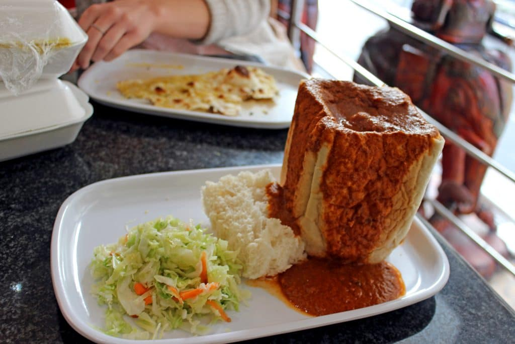 A bunny chow from Eastern Food Bazaar