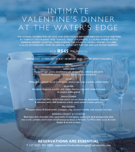 Intimate Valentine's Dinner at The Water's Edge