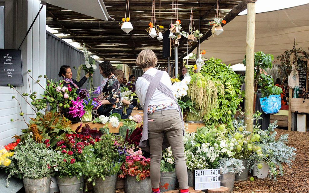 Oranjezicht City Farm Market flowers