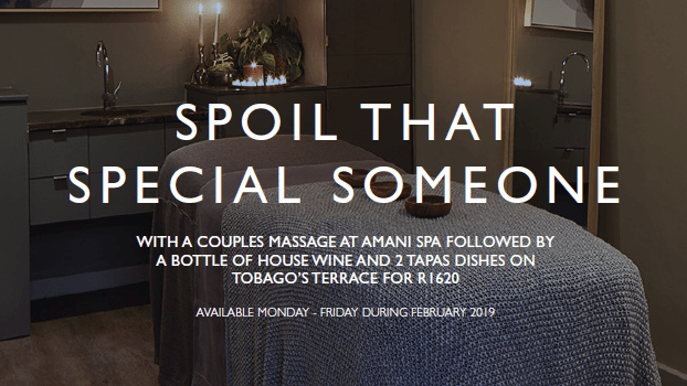 Spoil that special someone at Amani Spa