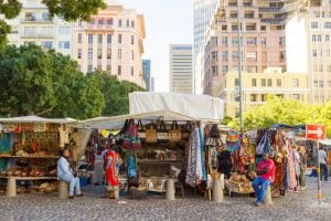 Green Market Stalls in the City