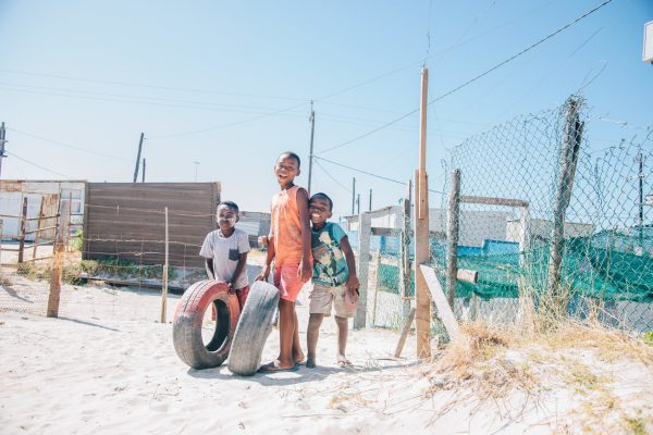 Kids playing in Khayelitsha