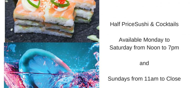 Sushi and Cocktail Special at Vista Marina
