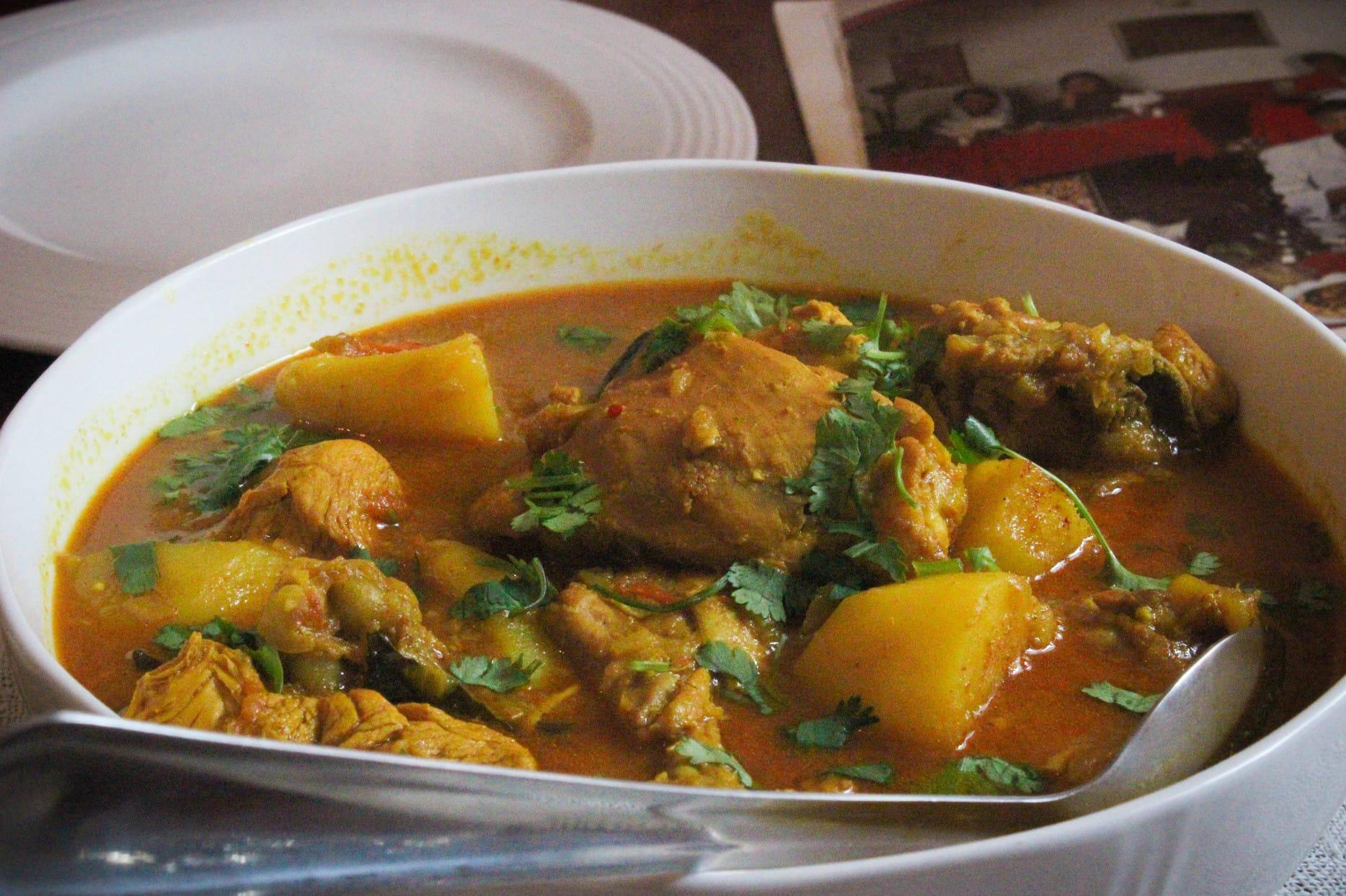 Traditional Cape Malay chicken curry from the Bo-Kaap cooking tour (1)