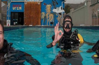 pisces divers onsite pool