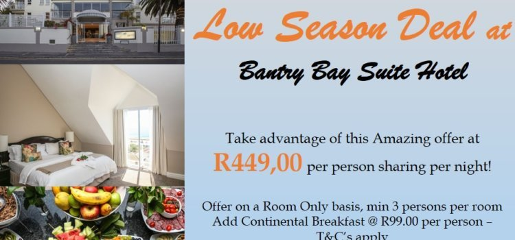 Low Season Deal at Bantry Bay Suite Hotel