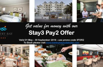 Stay 3 Nights and only pay for 2 at Bantry Bay Suite Hotel