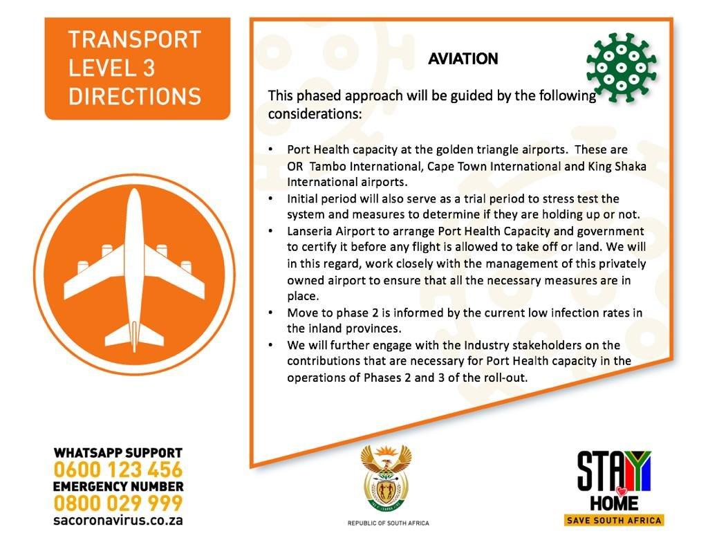 Covid 19 Limited Domestic Air Travel During Lockdown Alert Level 3 Explained Cape Town Travel